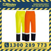 Bisley Taped 2 Tone Hi Vis Yellow or Orange Shell Rain Pant (BP6965T)