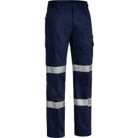 Bisley 3M Double Taped Cotton Drill Cargo Pant Navy