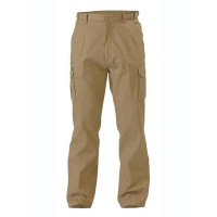 102R KHAKI Bisley Workwear 8 Pocket Mens Cargo Pant (BPC6007)