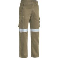 Bisley 3M Taped Cool Vented Lightweight Cargo Pant Khaki