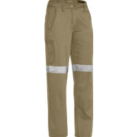 Bisley Womens 3M Taped Cool Vented Lightweight Pant Khaki