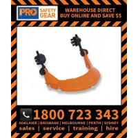 Hard Hat Browguard with Earmuff Attachment - HHBGE