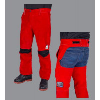 Elliotts Big Red Leather Welders LRG-XLG Trousers - Seatless (BRWTSLLRG)