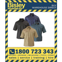 Bisley Original Cotton Men's Drill Shirt - Short Sleeve (BS1433)