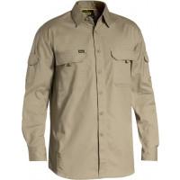Bisley Khaki X Airflow Ripstop Work Long Sleeve Shirt