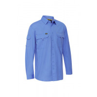 Bisley X Airflow Ripstop Mens Work Long Sleeve Shirt Blue (BS6414-BULT) L