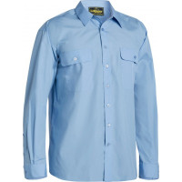 Bisley Permanent Press Long Sleeve Shirt Sky