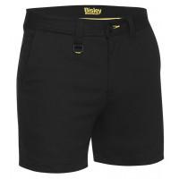 Bisley Mens Stretch Cotton Short Short Black