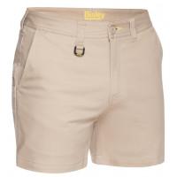 Bisley Mens Stretch Cotton Short Short Stone