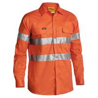 2XL Hi Vis Orange Drill Shirt Long Sleeve - 3M