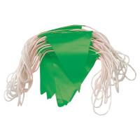 ProChoice Orange PVC Flag Bunting. Day Use. GREEN Flags 30m (BUN30GN)