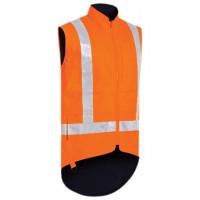 Bisley TTMC-W Taped Hi Vis Lined Vest Orange