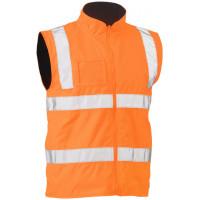 Bisley Taped Hi Vis Rail Wet Weather Vest Orange