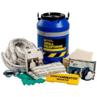 3M Chemical Sorbent Spill Response Kit Drum - 35L (CSRK-35)