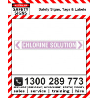 CHLORINE SOLUTION 475x60mm Self Stick Vinyl