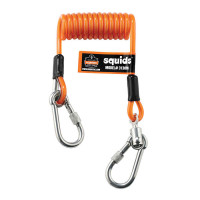 Ergodyne Squids 3130 Orange coiled tool lanyard