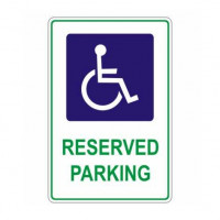 DISABLED RESERVED PARKING 300x450mm Metal