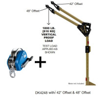 "Davit Mast - includes center post, elbow & 42""/48""- 30m IKAR Personnel and Load Winch 30m (PLW)"