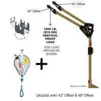 "Davit Mast - includes center post, elbow & 42""/48""- 12m IKAR winch -HRA12"