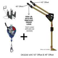 "Davit Mast - includes center post, elbow & 42""/48""- 18m IKAR winch -HRA18P"