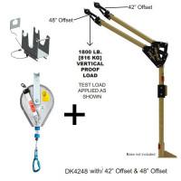 Pelsue Davit arm, mast 1219mm reach- 24m IKAR winch -HRA24