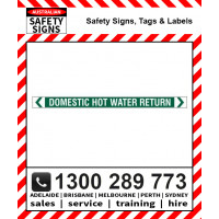 DOMESTIC HOT WATER RETURN 475x35mm Self Stick Vinyl