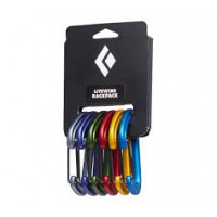 24kN BLACK DIAMOND LITEWIRE CARABINER RACKPACK Pk-6