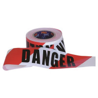 "ProChoice ""DANGER"" Red/White Tape 100m x 75mm (DT10075)"