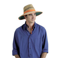 ELLIOTTS Straw Hat with Orange Band