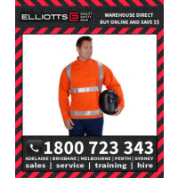 Elliotts FR Cotton Orange Proban Day/Night REFLECTIVE HI VIS WELDING JACKET 3XL-4XL (OPWJ30T1L)