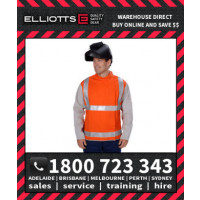 Elliotts FR Cotton Orange Proban Day/Night REFLECTIVE HI VIS WELDING JACKET LEATHER SLEEVES S-2XL (OPWJ30CSHT1)