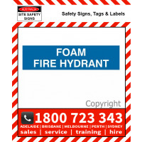 FOAM FIRE HYDRANT 600x150mm Front Engraved Laminate