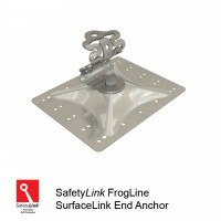 FrogLine SurfaceLink End Anchor - Aluminium Plate + Fixings (STAT.FROGSAL002+Fixings)
