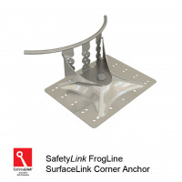 FrogLine SurfaceLink Corner Anchor - Stainless Steel Plate + Fixings (STAT.FROGSUR003+Fixings)