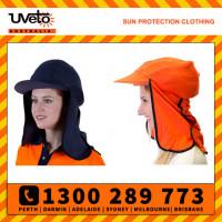Uveto 100% Cotton Gobi Over Hat Helmet Add-on Sun Protection