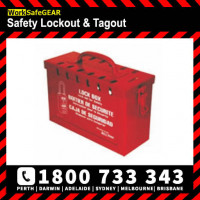 GROUP LOCK BOX 150x231x93mm P/COAT STEEL