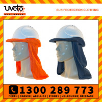 Uveto 100% Cotton Hard Hat Flap Safety Helmet Attachment