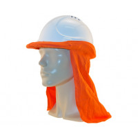 Uveto ORANGE 100% Cotton Hard Hat Flap Safety Helmet Attachment