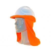 Uveto HI VIZ ORANGE Micro Mesh Hard Hat Flap Safety Helmet Attachment