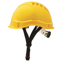 ProChoice Yellow V6 Hard Hat Vented Micro Peak Ratchet Harness