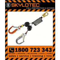 Skylotec Peanut Y TWIN LEG Retractable Shock Absorbing Lanyard 1.8m Length
