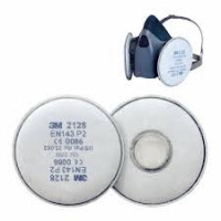 3M Small Rugged Comfort Half Facepiece Respirator Quick Latch (6501QL)inc P2 filter (2135)