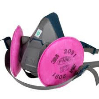3M Small Rugged Comfort Half Facepiece Respirator Quick Latch (6501QL)inc P2 filter (2091)