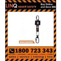 LINQ 2.5m Self Retracting Webbing Lanyard (IRW225KSKS)