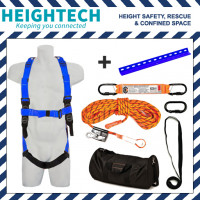 heightech Roofer's Kit with Safety Harness, 15kN Roof Anchor and 15m Ropeline