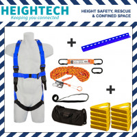 Roofer's Kit with Harness, 15kN Roof Anchor, Roof Handles and 15m Ropeline