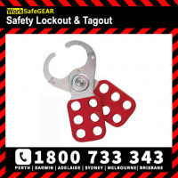 Red Lock out HASP 39mm Jaws Group Lockout