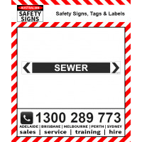 SEWER 475x60mm Self Stick Vinyl