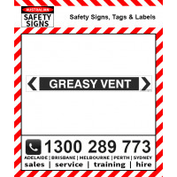 GREASY VENT BLACK 475x60mm Self Stick Vinyl