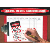 LOG BOOK LOCKOUT / TAGOUT REGISTER A4